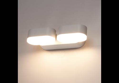 HOFTRONIC™ Dimbare LED Wandlamp Dayton dubbel grijs 12 Watt 3000K kantelbaar IP54