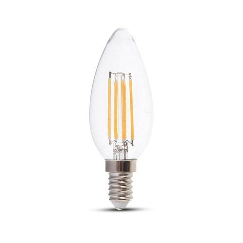Dimbare LED gloeilamp kaarsvorm E14 4 Watt 350lm extra warm wit 2700K Samsung