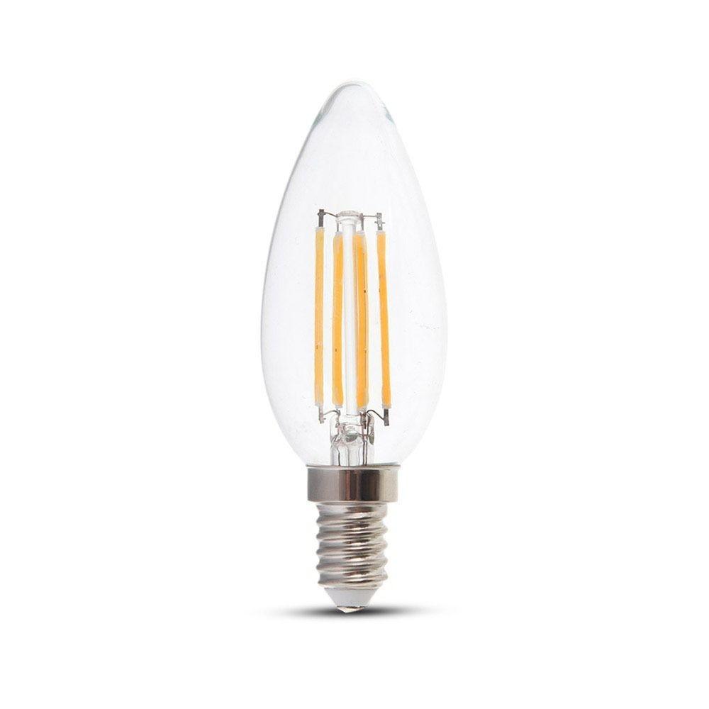 Dimbare LED gloeilamp kaarsvorm E14 4 Watt 350lm extra warm wit 2700K Samsung