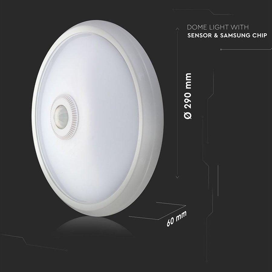 LED plafondlamp Wit met bewegingssensor 12W 800 Lumen 3000K IP20 3 jaar garantie