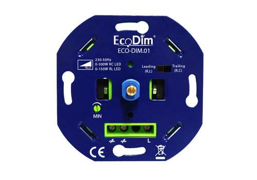 Ecodim LED dimmer 0-300 Watt Trailing and Leading edge