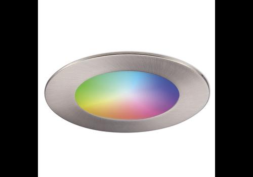 Homeylux Smart WiFi LED recessed spotlight Aura RGBWW stainless steel IP44 1050lm
