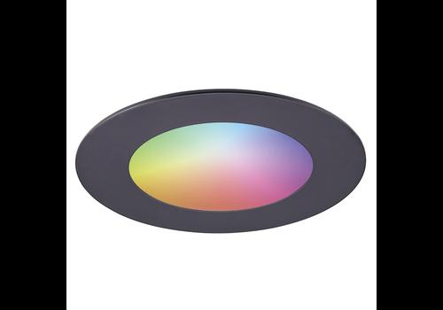 Homeylux Smart WiFi LED recessed spotlight Aura RGBWW Black IP44 1050lm