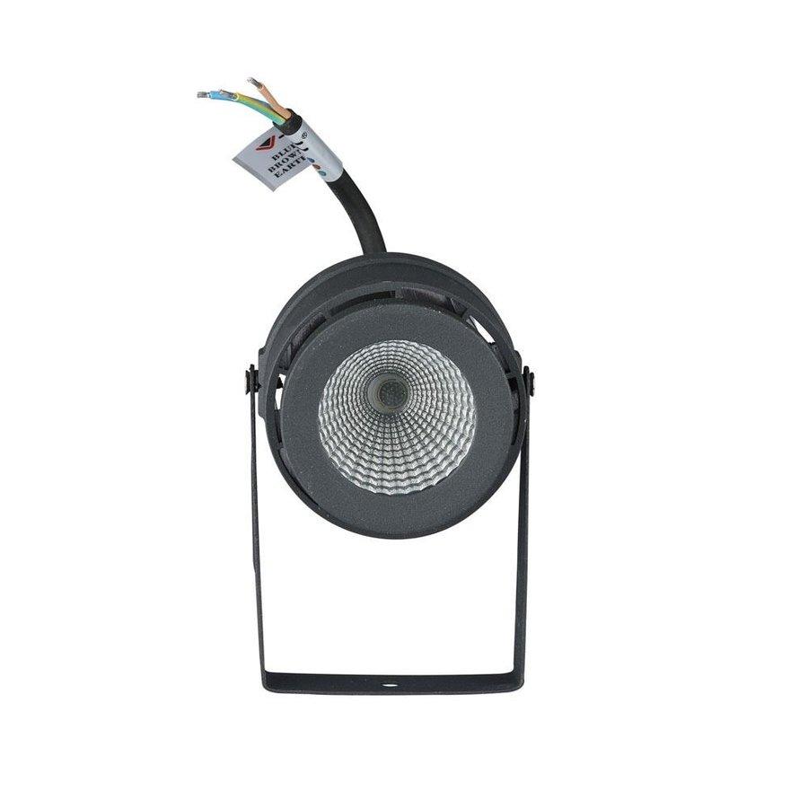 Set van 6 LED aluminium prikspots 12 Watt  3000K IP65 antraciet