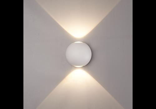 LED Wandleuchte 6 Watt Beidseitig leuchtend IP65 Weißer Globe