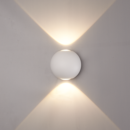 LED wandlamp 6 Watt tweezijdig oplichtend IP65 witte  Globe