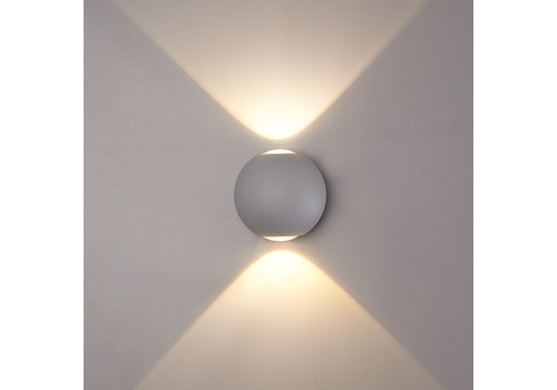LED wall light 6 Watt Up-down lighting IP65 Grey Globe