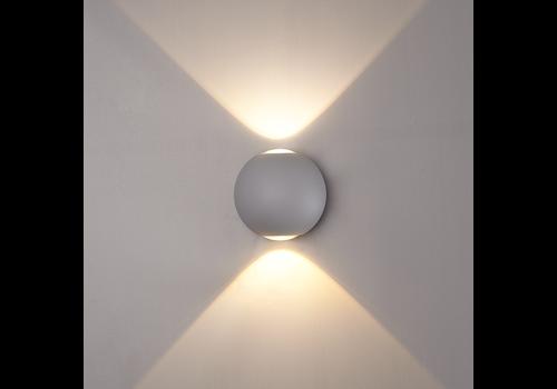 LED Wandleuchte 6 Watt Beidseitig leuchtend IP65 Grauer Globe