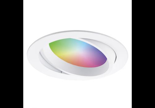 Homeylux Smart WiFi LED recessed spotlight Luna RGBWW tiltable white IP44 1050lm