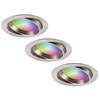 Homeylux Set van 3 stuks smart WiFi LED inbouwspots Luna RGBWW kantelbaar RVS IP44 1050lm