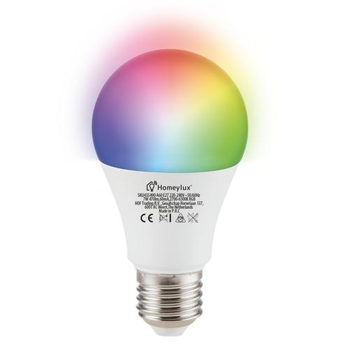 Homeylux E27 SMART LED Bulb RGBWW Wifi 7 Watt 470lm Dimmable