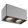 Dimmbare LED Deckenanbaustrahler Esto 2 Lichter 3000K GU10 Grau IP20 Kippbar