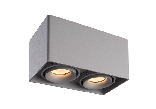 HOFTRONIC™ Dimmable LED surface mounted ceiling spotlight Esto 2 light 2700K GU10 Grey IP20 tiltable