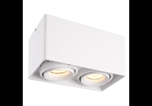 HOFTRONIC™ Dimmbare LED Deckenanbaustrahler Esto 2 Lichter 2700K GU10 Weiß IP20 Kippbar