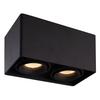 HOFTRONIC™ Dimbare LED opbouw plafondspot Esto Zwart 2 lichts kantelbaar incl. 2x GU10 spot 5W 3000K