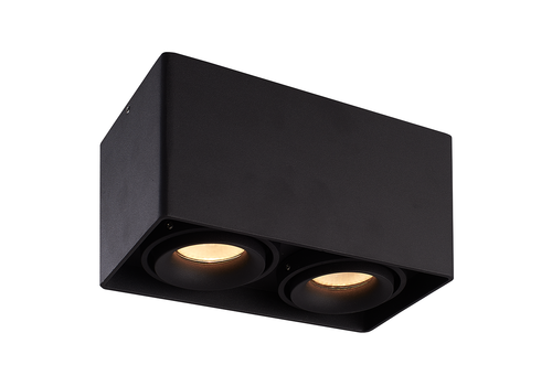 HOFTRONIC™ Dimmable LED surface mounted ceiling spotlight Esto 2 light 2700K GU10 Black IP20 tiltable