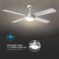 Ceiling fan steel with remote control 60 Watt LED