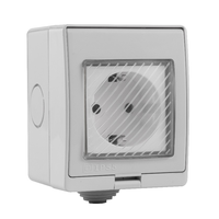 Cree LED inbouwspot set Granada 6x3W dim-/kantelbaar IP44 vochtbestendig incl. Touch muurdimmer en afstandsbediening