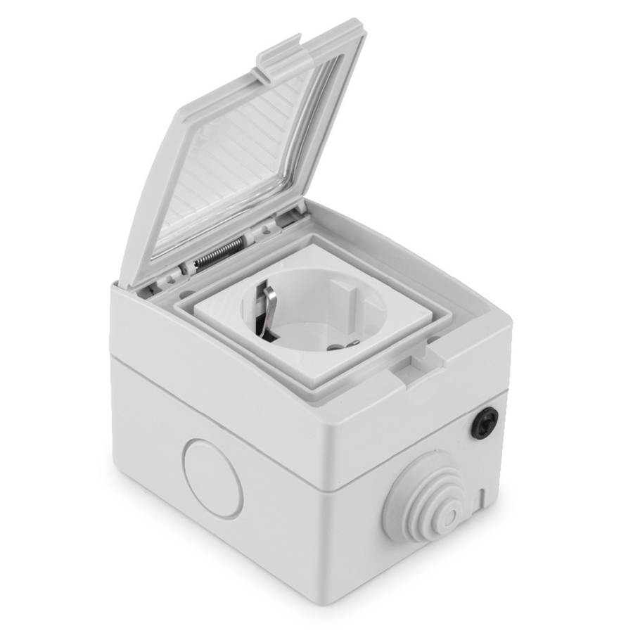 Smart socket waterproof white - Connectable with Google Home & Alexa