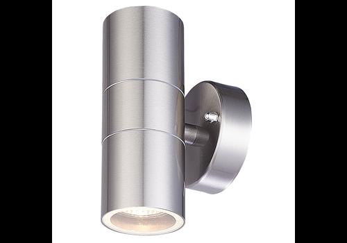 HOFTRONIC™ LED-Wandleuchte Jasmin GU10 rund beidseitig leuchtend Edelstahl IP44