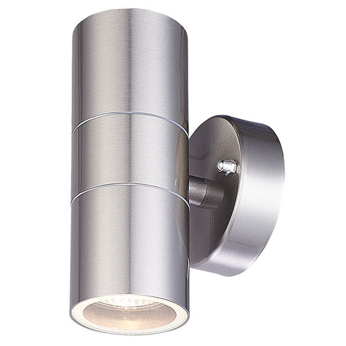 HOFTRONIC™ LED Wall light Jasmin GU10 round double-sided illuminated stainless steel IP44