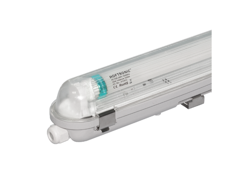HOFTRONIC™ 25x LED T8 fixture IP65 120 cm 3000K 18W 2520lm 140lm/W Flicker Free linkable