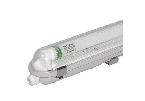 HOFTRONIC™ LED T8 fixture IP65 120 cm 3000K 18W 2880lm 160lm/W Flicker Free linkable