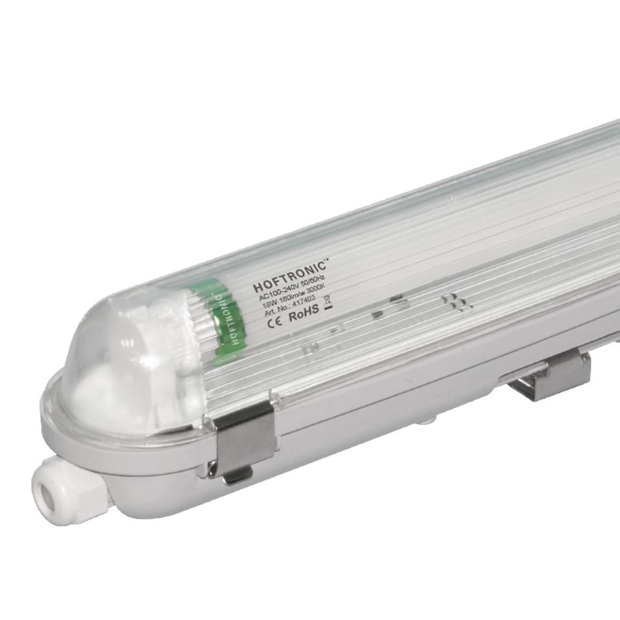 25x LED T8 fixture IP65 120 cm 3000K 18W 2880lm 160lm/W Flicker Free linkable