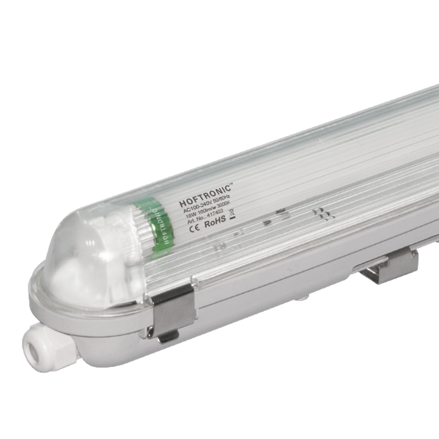 25x LED T8 TL armatuur IP65 120 cm 3000K 18W 2880lm 160lm/W Flikkervrij koppelbaar