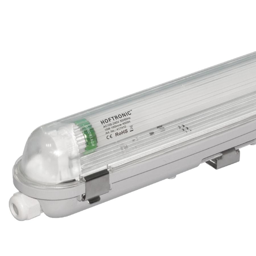 LED T8 TL armatuur IP65 120 cm 4000K 18W 2880lm 160lm/W Flikkervrij koppelbaar