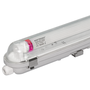 HOFTRONIC™ LED T8 fixture IP65 120 cm 4000K 18W 3150lm 175lm/W Flicker Free linkable