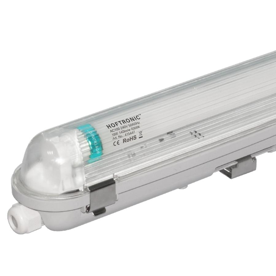 25x LED T8 TL armatuur IP65 120 cm 6000K 18W 2520lm 140lm/W Flikkervrij koppelbaar
