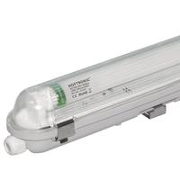 LED T8 TL armatuur IP65 120 cm 6000K 18W 2880lm 160lm/W Flikkervrij koppelbaar