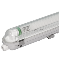25x LED T8 fixture IP65 120 cm 6000K 18W 2880lm 160lm/W Flicker Free linkable