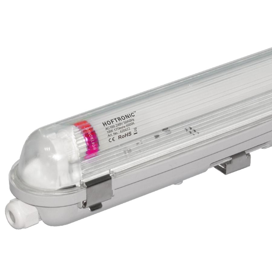 LED T8 TL armatuur IP65 120 cm 6000K 18W 3150lm 175lm/W Flikkervrij koppelbaar