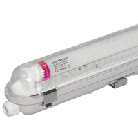10x LED T8 TL armatuur IP65 120 cm 6000K 18W 3150lm 175lm/W Flikkervrij koppelbaar