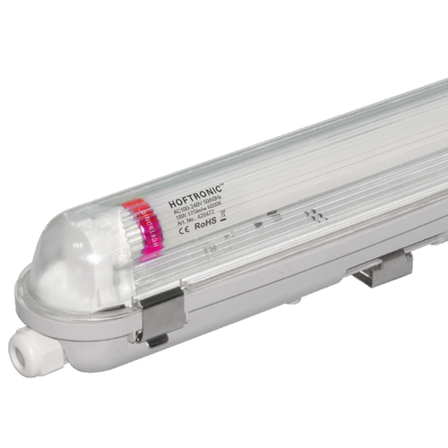 HOFTRONIC™ 10x LED T8 fixture IP65 120 cm 6000K 18W 3150lm 175lm/W Flicker Free linkable