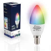 E14 SMART LED Lampe RGBWW Wifi 5,5 Watt 470lm C37 Dimmbar