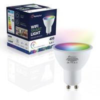 Set of 3 GU10 120° SMART LED Bulbs RGBWW Wifi 5.5 Watt 400lm Dimmable