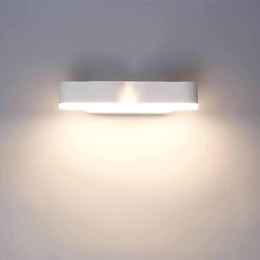 Dimbare LED Wandlamp Dayton dubbel wit12 Watt 3000K kantelbaar IP54 spatwaterdicht 3 jaar garantie