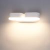 HOFTRONIC™ Dimbare LED Wandlamp Dayton dubbel wit12 Watt 3000K kantelbaar IP54 spatwaterdicht 3 jaar garantie