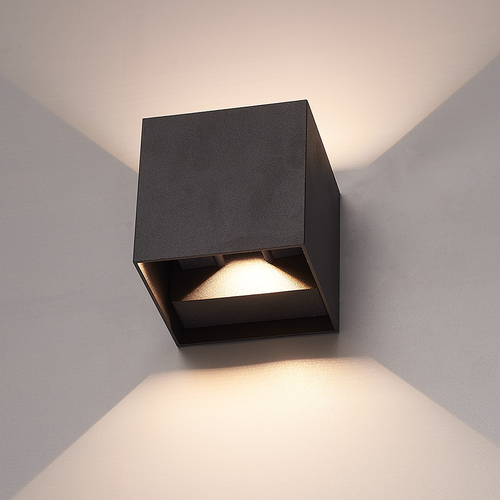 HOFTRONIC™ Set of 6 Dimmable LED Wall light Kansas black 6 Watt 3000K double-sided illumination IP54