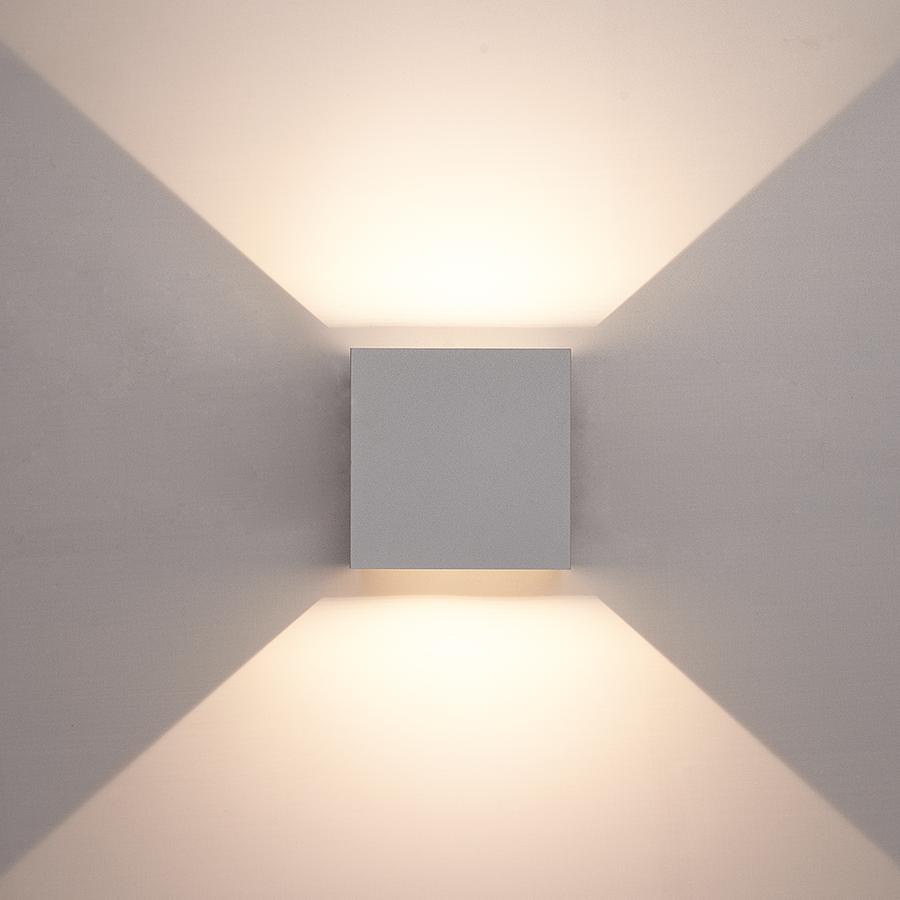 Set of 3 Dimmable LED Wall light Kansas Grey 6 Watt 3000K double-sided illumination IP54