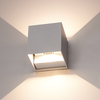 HOFTRONIC™ Set van 6 Dimbare LED Wandlamp Kansas grijs 6 Watt 3000K tweezijdig oplichtend IP54