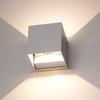 Set of 6 Dimmable LED Wall light Kansas Grey 6 Watt 3000K double-sided illumination IP54