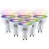 Homeylux Set van 6 GU10 38° SMART LED Lampen RGBWW Wifi 5.5 Watt 345lm Dimbaar
