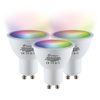 Homeylux Set of 3 GU10 120° SMART LED Bulbs RGBWW Wifi 5.5 Watt 400lm Dimmable
