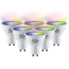 Set of 6 GU10 120° SMART LED Bulbs RGBWW Wifi 5.5 Watt 400lm Dimmable
