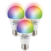 Set of 3 E27 SMART LED Bulbs RGBWW Wifi 7 Watt 470lm Dimmable