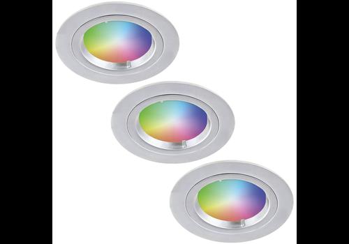 Homeylux Set of 3 smart WiFi RGBWW LED recessed spotlights Austin 5,5 Watt IP20